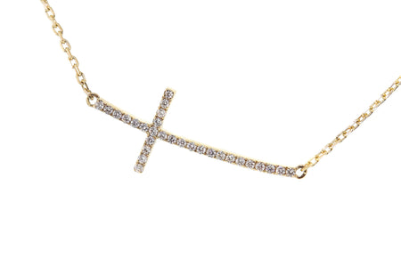 .40ct 14k Yellow Gold cross pendant