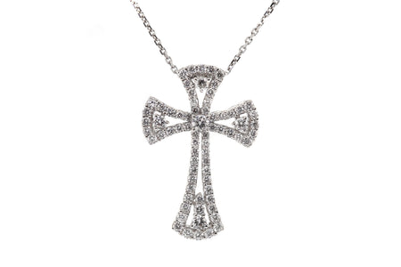 1.10ct 18k White Gold cross