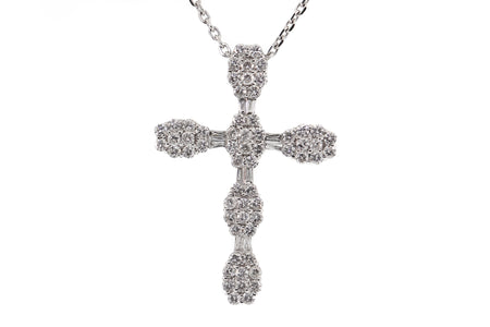 2.50ct 18k White Gold cross
