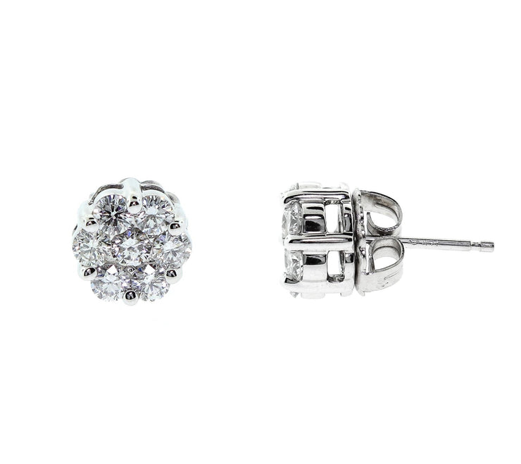 White Gold & Diamond Studs