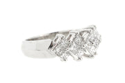 1.00ct 18k White Gold Princess cut band