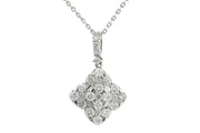 14k 1.75ct flower design pendant