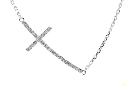 .40ct 14k White Gold cross pendant