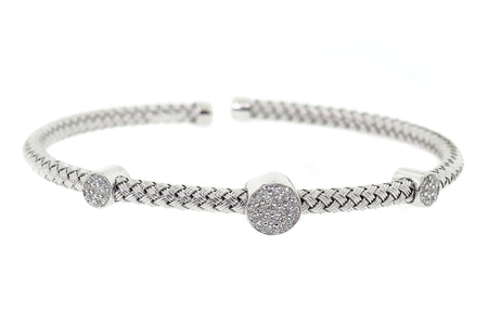 .50ct 14k White Gold Bangle