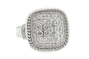 14k White Gold 1.75ct pave style cocktail ring