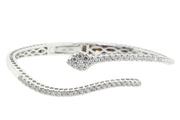 18k White Gold 1.60ct snake design bangle