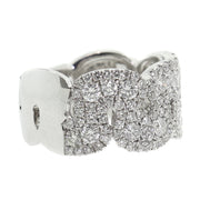 14k White Gold 2.00ct modern style band