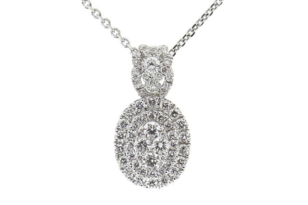 18k White Gold .75ct pendant