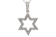 .40ct 14k White Gold Star of David  pendant