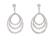 5.90ct 14k White Gold Chandelier earrings