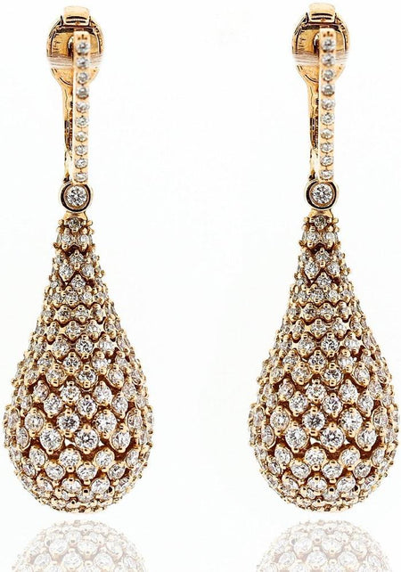 Rose Gold & Diamond Drop Earrings