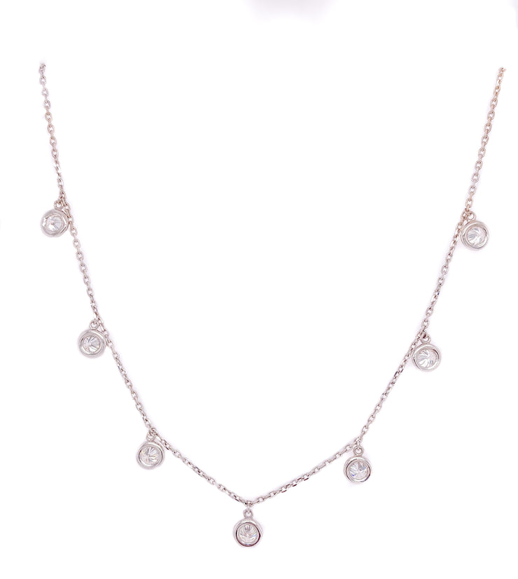 1.93ct 14k white gold diamonds by the yard chain