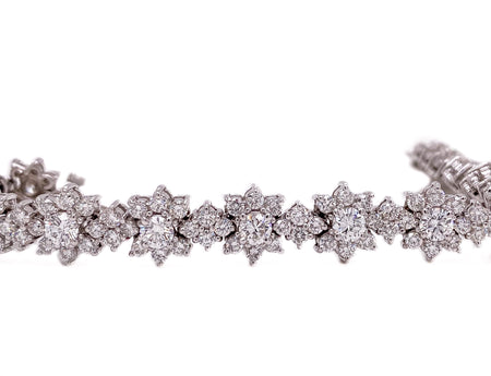 18k white gold 10.00ct classic style bracelet