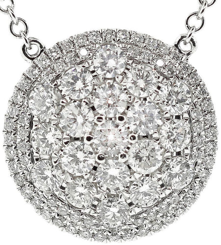 Diamond Disc Pendant Attached To A Diamond By The Yard Chain
