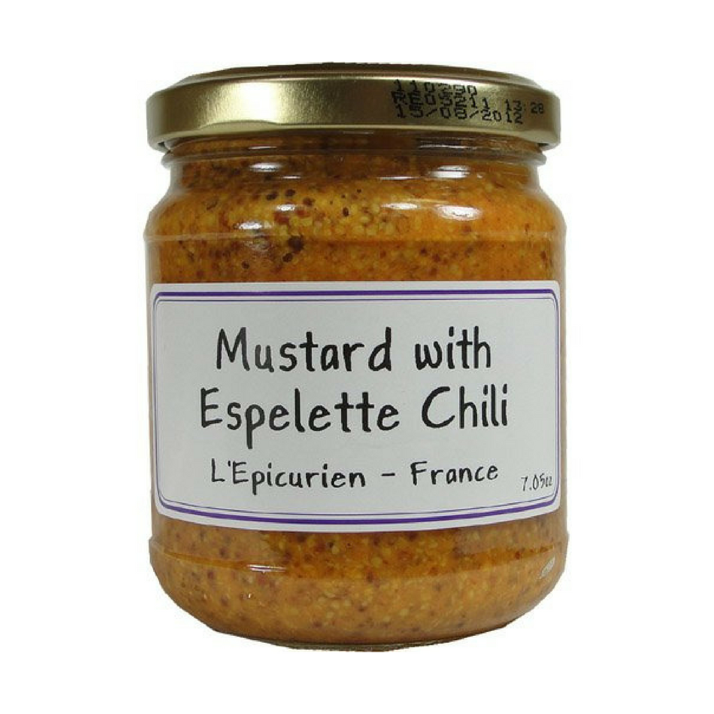 Epicurien Mustard with Espelette Chili 7 oz-Epicurien-French-Grocery-store