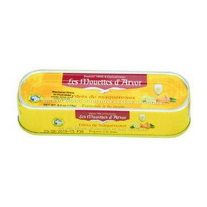 Mouettes d'Arvor Mackerel Fillets in White Wine and Mild Spices 6 oz-Mouettes d'Arvor-French-Grocery-store