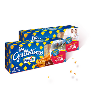 Brioche Pasquier 18 Wheat Grillettines 8.5 oz. (242g)-Brioche Pasquier-French-Grocery-store