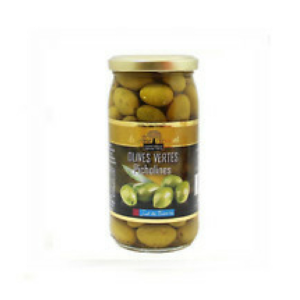 Brunel Green Picholines Olives 7 oz. (200g)-Brunel-French-Grocery-store