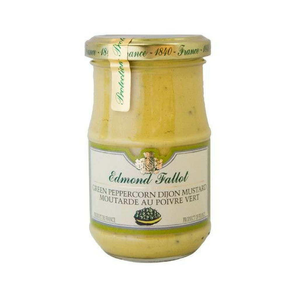 Edmond Fallot Green Peppercorn Dijon Mustard 7.4 oz. (210 g)-Edmond Fallot-French-Grocery-store
