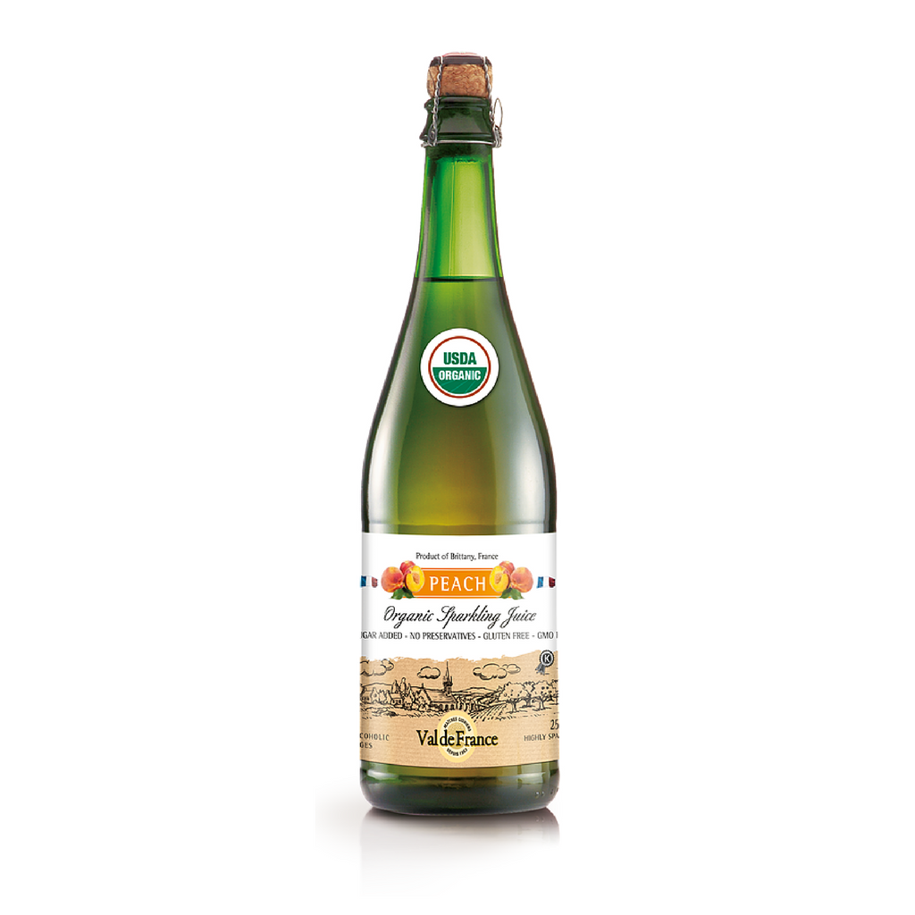 Organic Sparkling Peach Juice by Val de France 25.4 oz Best Price-Val de France-French-Grocery-store