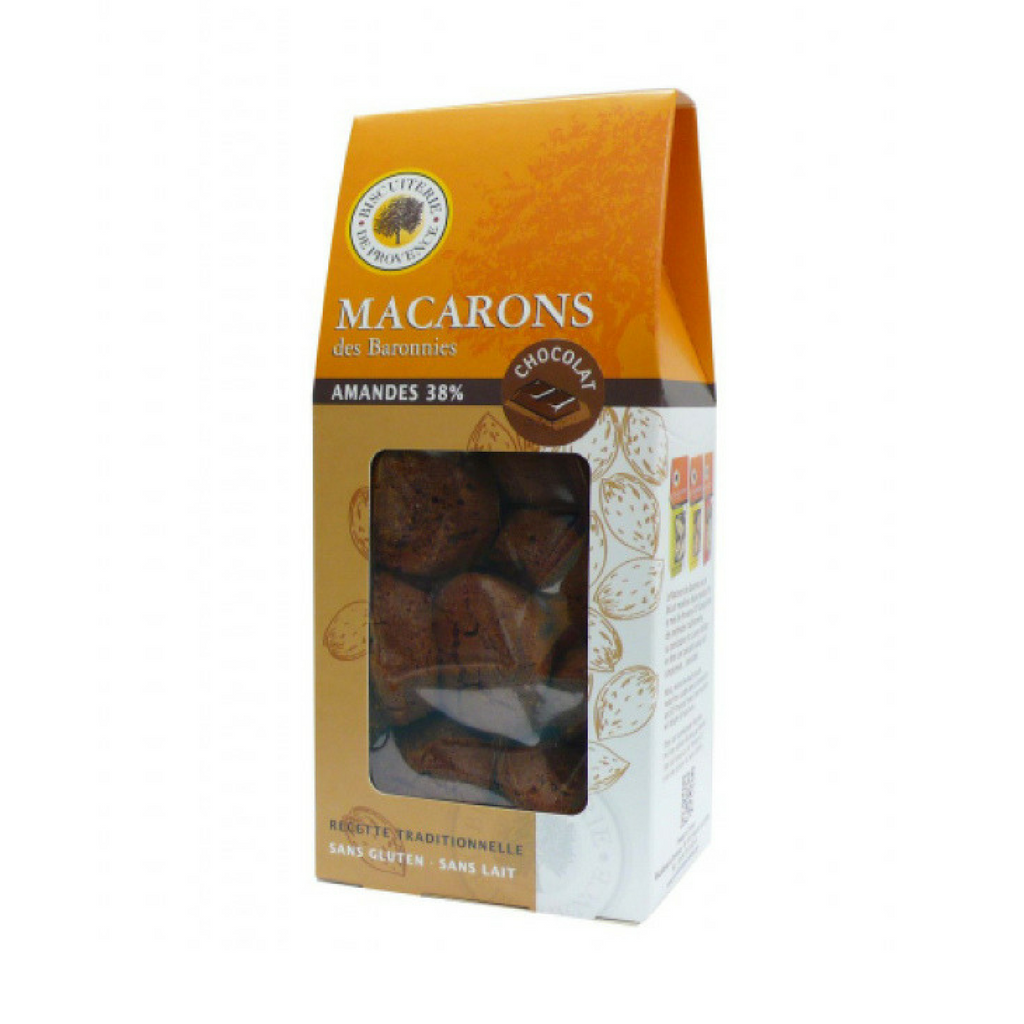 Biscuiterie de Provence Gluten Free Chocolate Macarons 5.6oz-Biscuiterie de Provence-French-Grocery-store