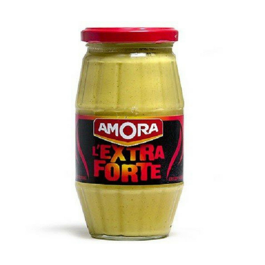 6 Pack Amora French Dijon Mustard Extra Strong-Amora-French-Grocery-store