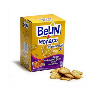 Belin Monaco French Snack Crackers with Emmental Cheese 105g - 3.7 oz-FRENCH ÉPICERIE-Curly-Le Tablier Bleu | Online French Supermaket