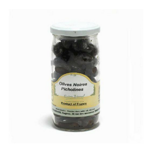Brunel · Black Picholine olives · 200g (7 oz)-FRENCH ÉPICERIE-Brunel-Le Tablier Bleu | Online French Supermaket