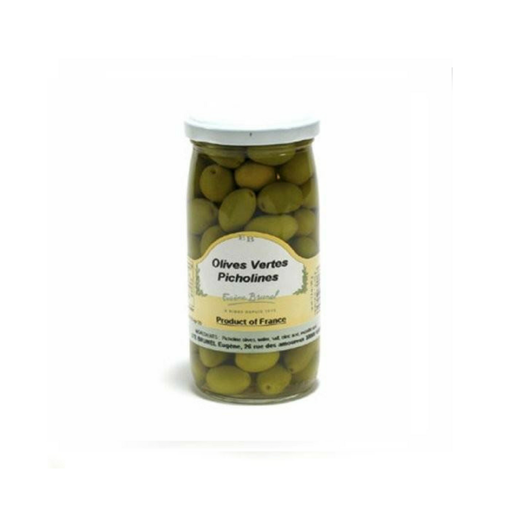 Brunel · Green Picholine olives · 200g (7 oz)-FRENCH ÉPICERIE-Brunel-Le Tablier Bleu | Online French Supermaket