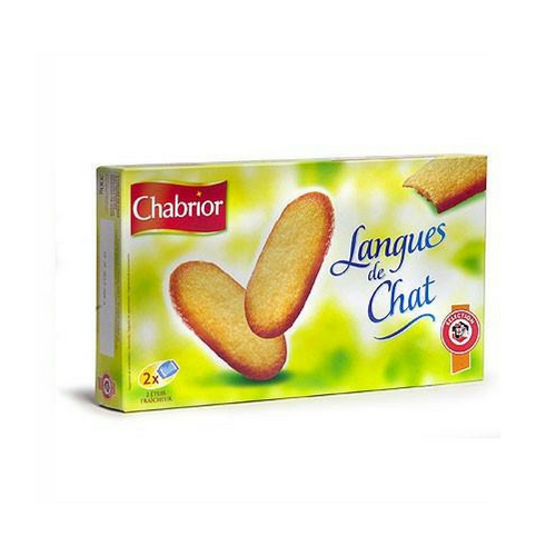 Chabrior · Langues de chat · 200g (7 oz)-DESSERTS & SWEETS-Chabrior-Le Tablier Bleu | Online French Supermaket