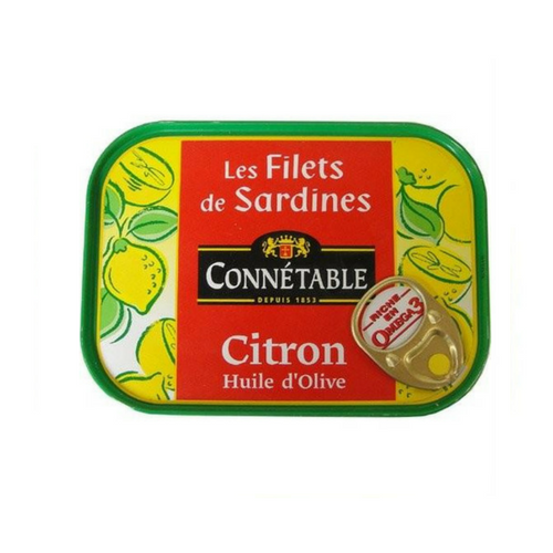 Connétable · Sardine fillets with olive oil & lemon · 100g (3.5 oz)-FOIE GRAS & TRUFFLES-Connetable-Le Tablier Bleu | Online French Supermaket