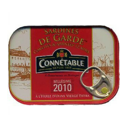 Connétable · Sardines de garde in olive oil · 115g (4.1 oz)-FOIE GRAS & TRUFFLES-Connetable-Le Tablier Bleu | Online French Supermaket