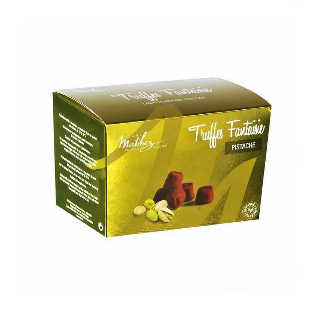 French Chocolate Truffle with Pistachio by Mathez 8.8 oz-Mathez-Le Tablier Bleu | Online French Supermaket