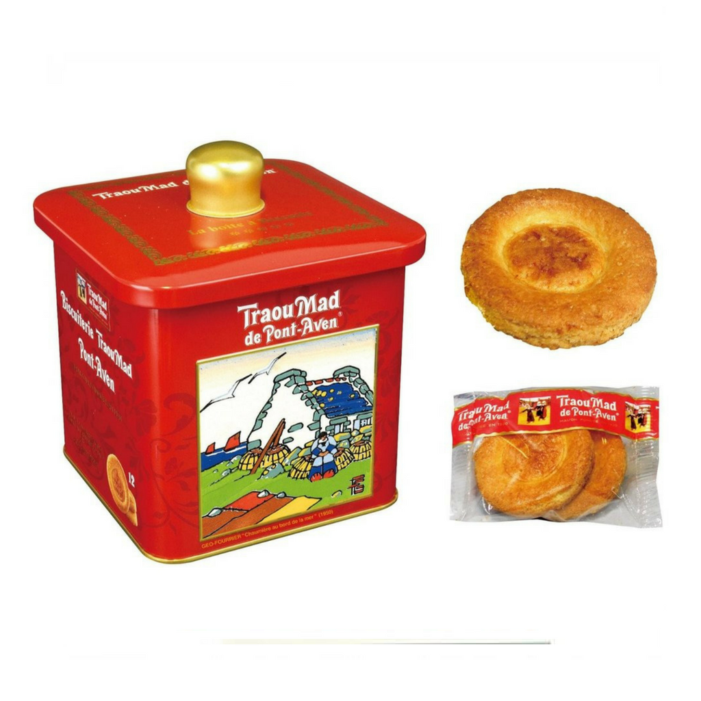 The Traou Mad de Pont-Aven - French Butter Cookies - Decorative Tin - 200g-DESSERTS & SWEETS-Traou Mad-Le Tablier Bleu | Online French Supermaket