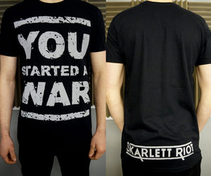 Skarlett Riot Short Sleeve You Started A War - Black