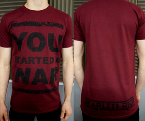 Skarlett Riot Short Sleeve You Started A War - Burgundy