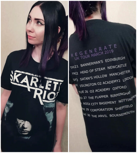 Skarlett Riot Short Sleeve Regenerate Tour T-Shirt - Black