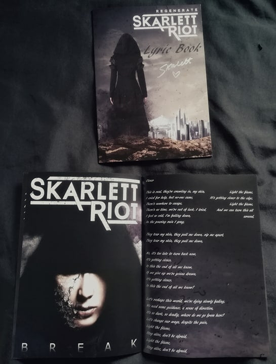 Skarlett Riot Regenerate Album Lyric Book