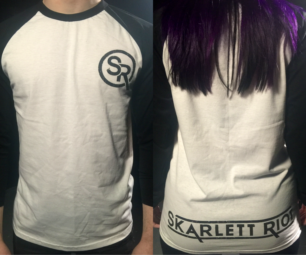 Skarlett Riot Long Sleeve Emblem T-Shirt White