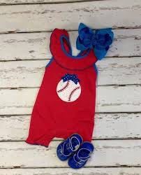 Baseball Girls App Romper