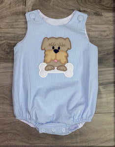 Applique Boy Dog Bubble
