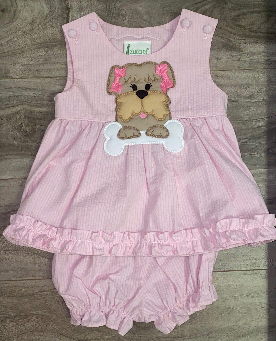 Applique Girl Dog Dress Set
