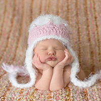 Abigail Crown Baby Hat