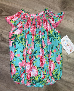 Rose Delight Smocked Bubble