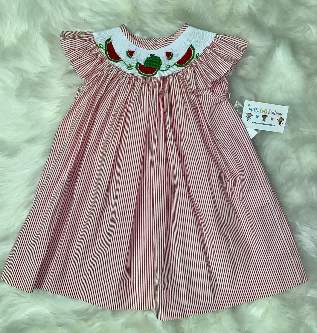 Smocked Watermelon Dress