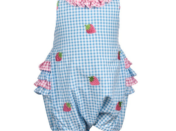Strawberry All Over Romper