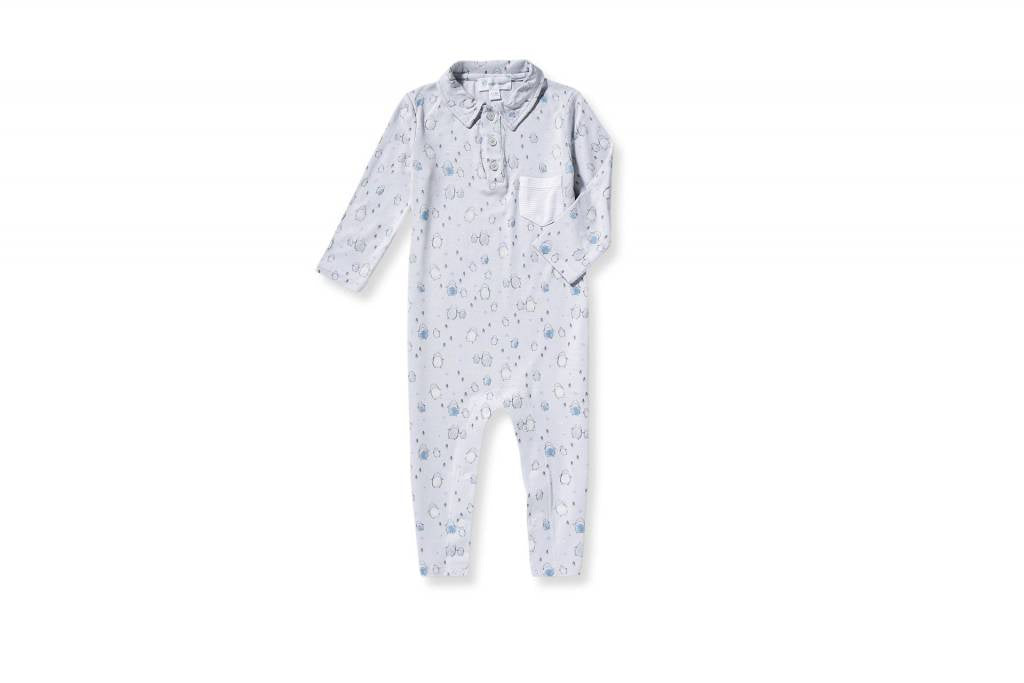 Grey Penguins Romper