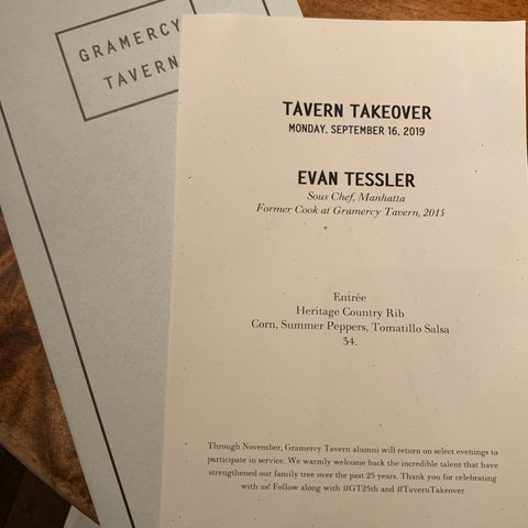 Tavern Takeover Menu