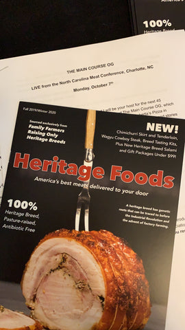 Heritage Foods Catalog at NC Choices Carolina Meat Conference