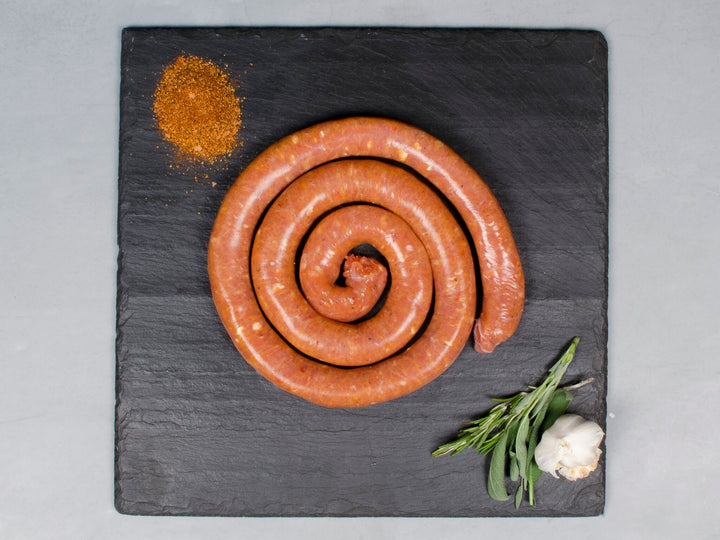 SPICY CHICKEN SAUSAGE, Three 1lb wheels — Parma Sausage Company